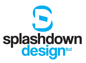 Splashdown Design logo white background